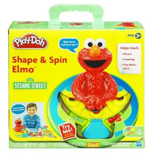 elmo play doh shape and spin