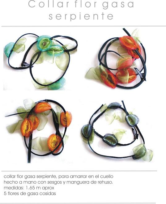 collar flor gasa colores