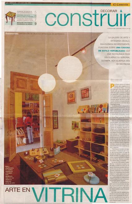 EL COMERCIO LUCES CARATULA, MDF