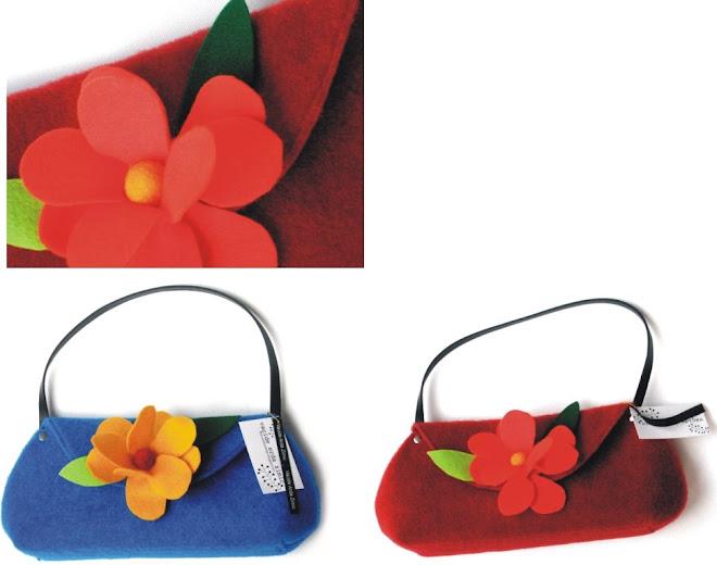cartera peru flor fieltro