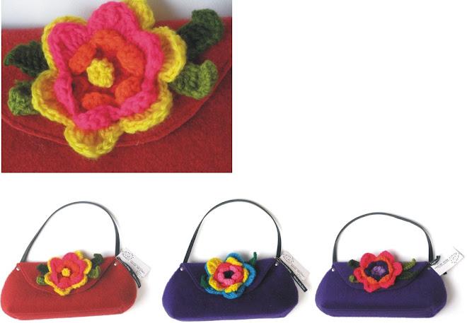 cartera peru flor crochet