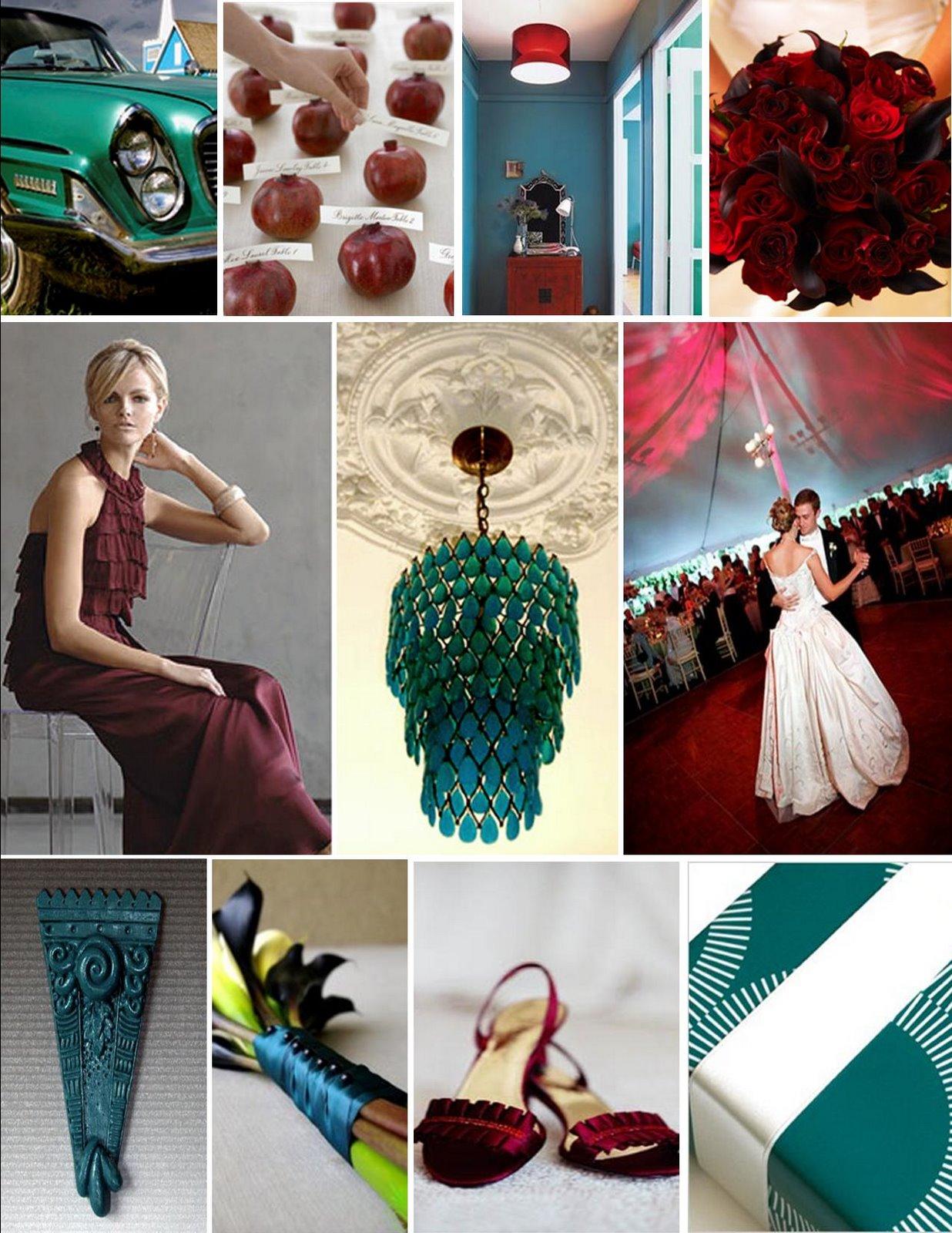 wedding cabaret muse board burgundy teal. Black Bedroom Furniture Sets. Home Design Ideas