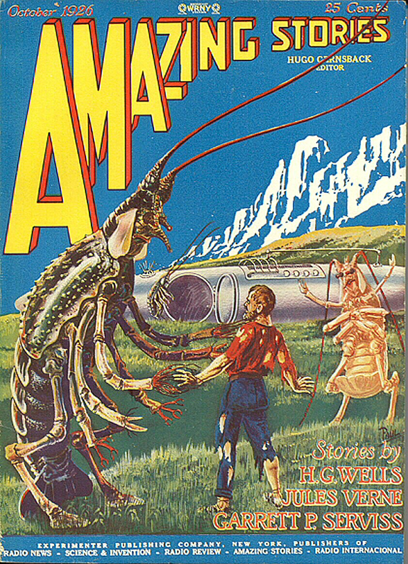 Amazing Stories Volume 21 Number 06: Science Fiction Magazines: Amazing Stories 007 V01n07