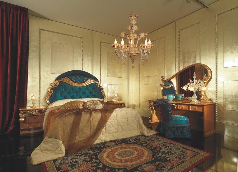 Antique Italian Classic Furniture Bedroom In Art Deco Style