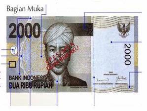 Uang Kertas Pecahan 2000 Rupiah