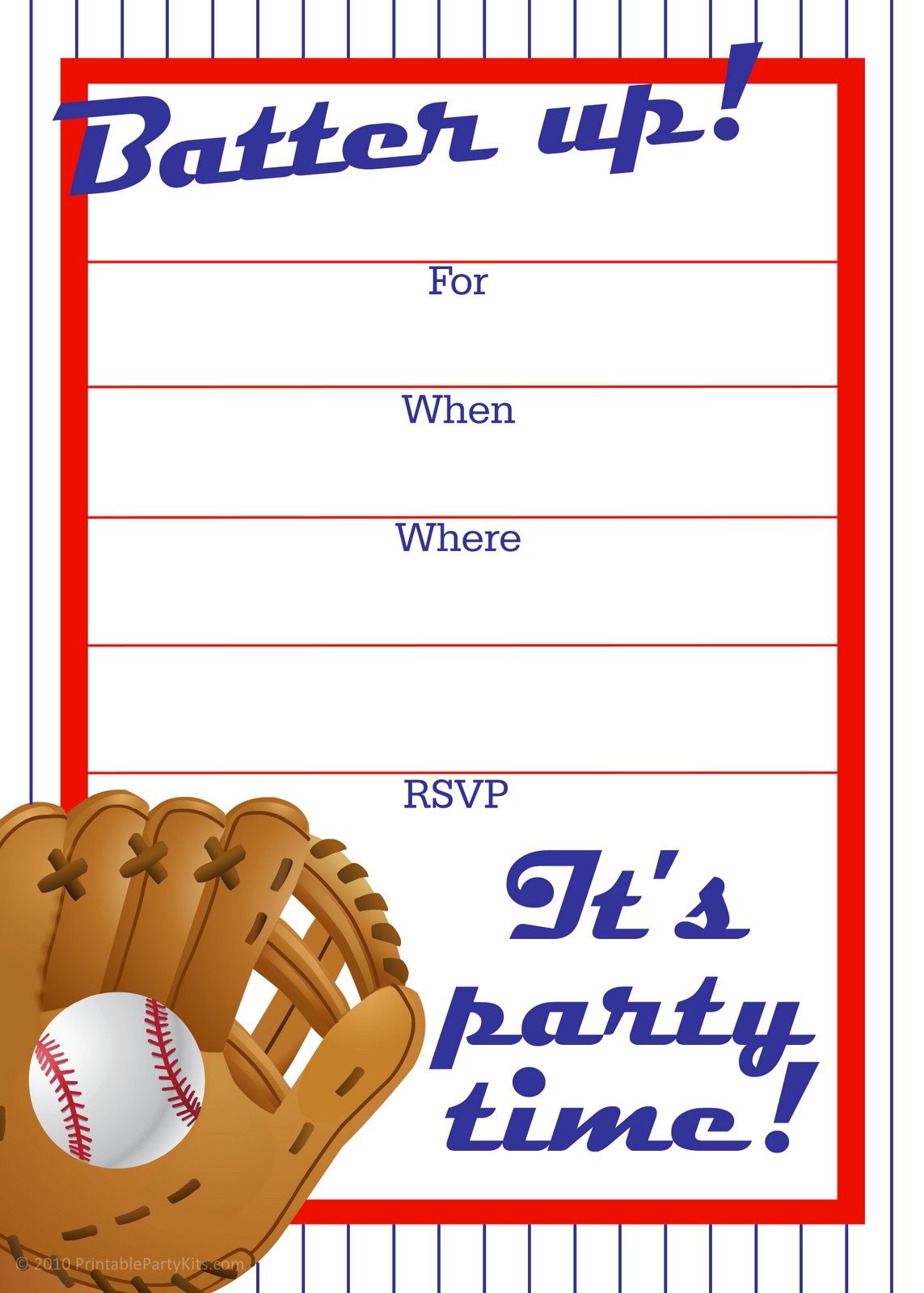 Free printable party invitations crafthubs free printable party invitations free baseball birthday pronofoot35fo Image collections