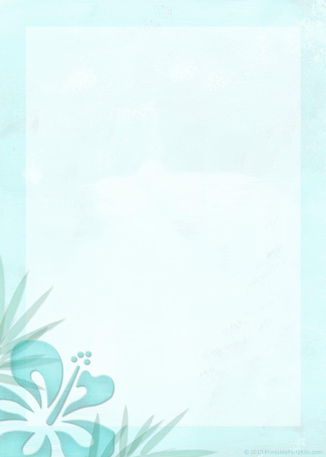 Free Printable Party Invitations: Printable Tropical Beach Theme Wedding Invitation Template