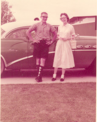 My father and Auntie Mimi.  LOVE the socks, dad!