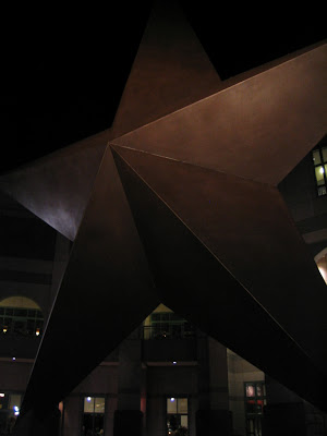 Sculpture outside Bob Bullock Museum, Austin...