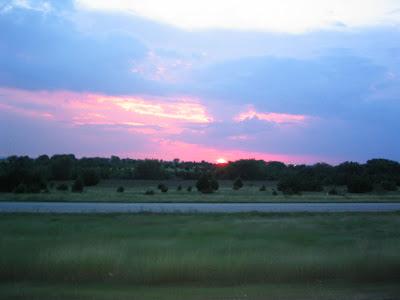 Pretty sunset…