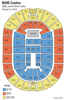If you want the best seats in house for upcoming billy joel and elton john face concert at bok center arena might consider buying also daily  seating guide rh eltondaily