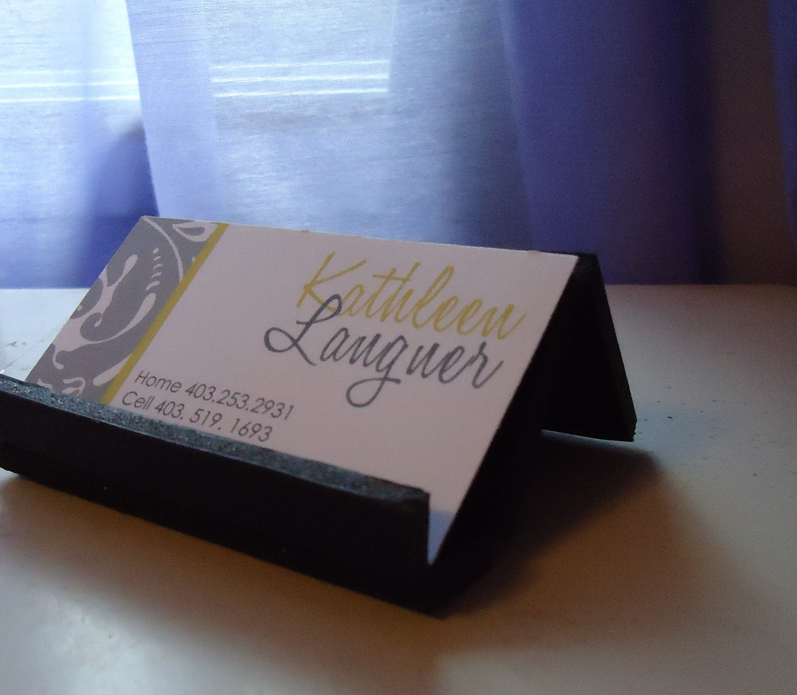 Sweet  Simple DIY Business Card Holder DIY
