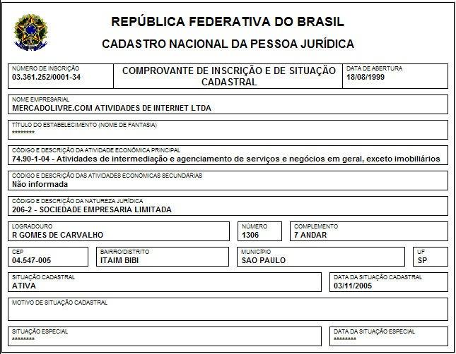 Imprimir Cart o de CNPJ pela Internet - Consulta CNPJ