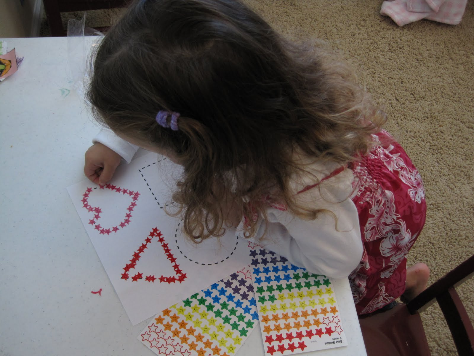 Tracing Shapes With Stickers