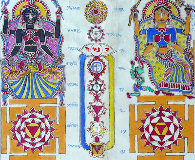 batohi jha madhubani tantra painting