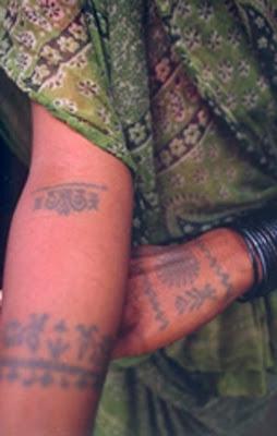tatoo godhana harijan mithila painting india