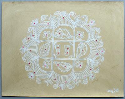 monju devi mithila painting