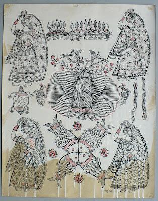monju devi ritual painting india