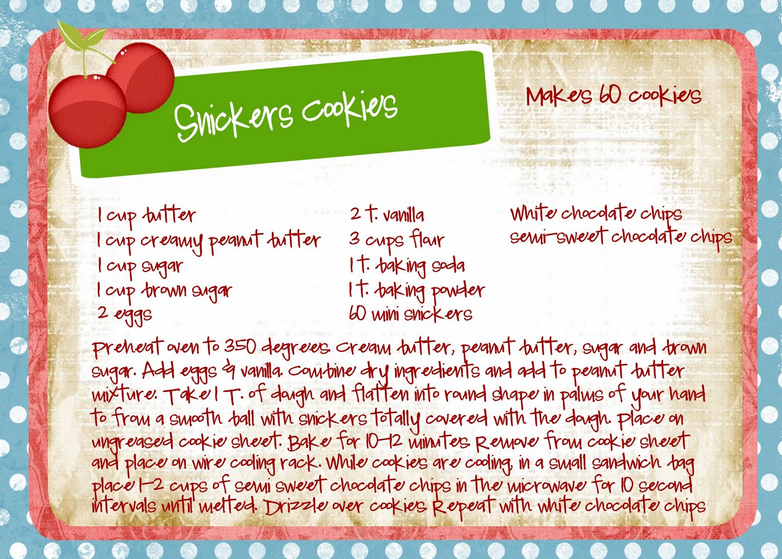 Bayberry Creek Crafter Cookie Recipes