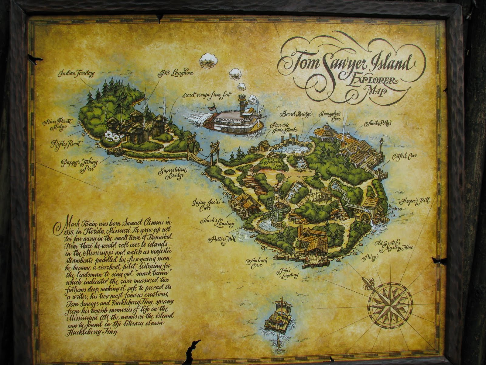 Disney World Tom Sawyer Island Map