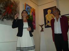Lic. Maria Lucila Pimpi Colombo inaugurando la exposicion