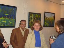 La artista y su entorno inaugural