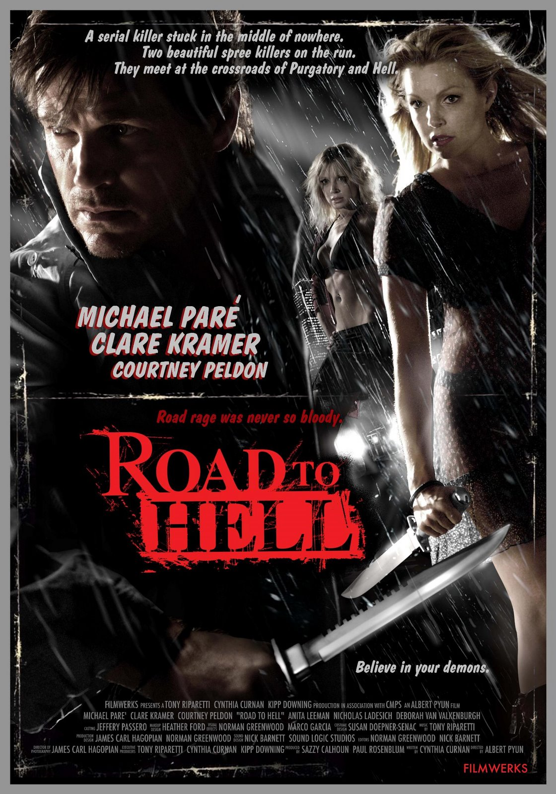 Road to hell movie poster model home images pictures for Model house movie
