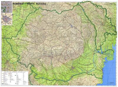 Harta Romaniei Harta Rutiera Romania