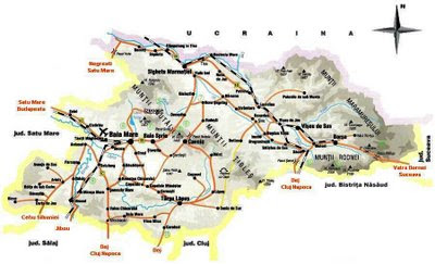 Feroviarii Harta Rutiera Judetul Maramures
