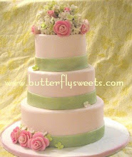 Rose and Hydrangea Wedding Cake