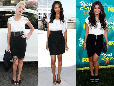 22890dcd7d fashion and lifestyle: White tops and black skirts