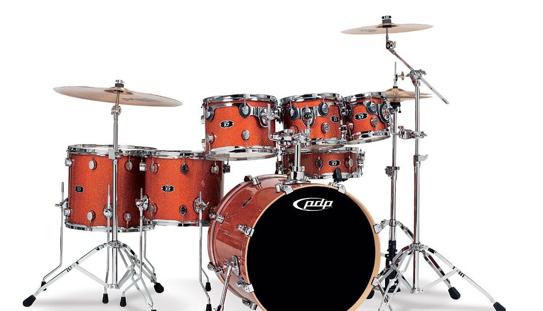 Drum Store Pdp X7 Orange Sparkle 7 Piece Drum Set