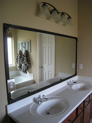One Of The First Projects I Wanted To Start On In My House Was The Boring  Builders Stock Mirrors. My Plan Was To Take Off The Mirrors And Replace  Them With ...