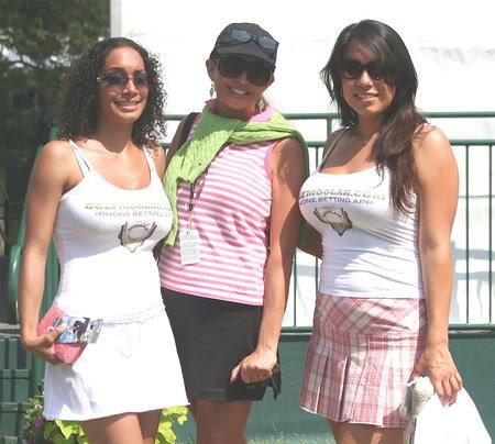 Mini skirts at golf tournaments Golf Girl S Diary The Sexy Golfmoolah Girls Enjoy Their First Tournament