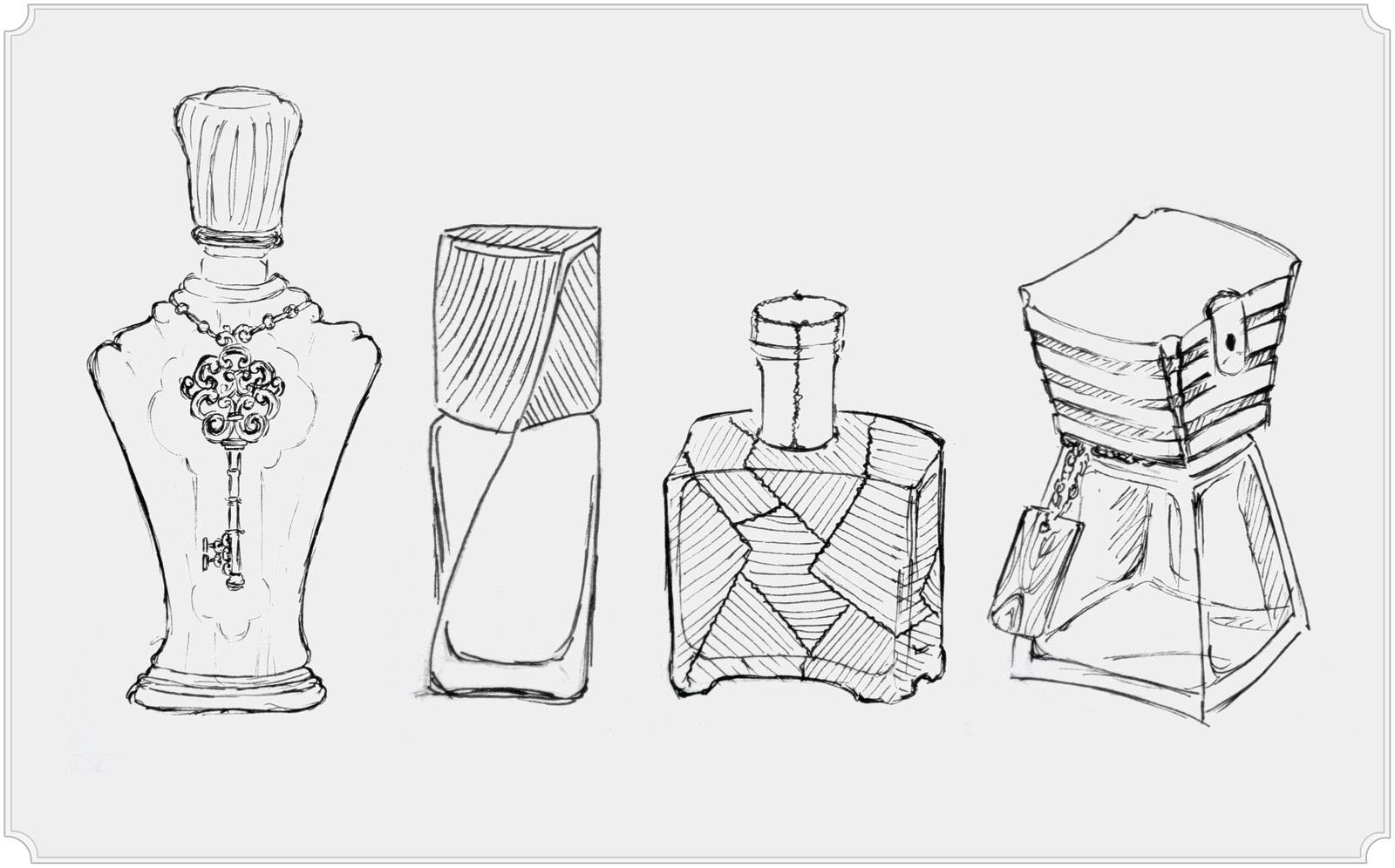 Anh Vu Design Blog Random Cologne Bottle Sketches