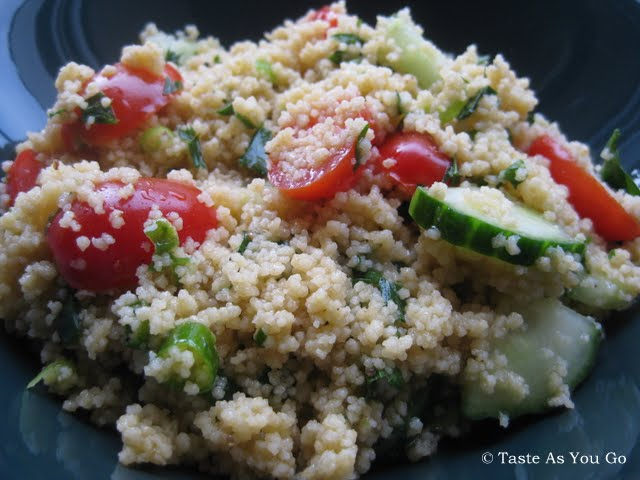 Simple Summer Couscous Salad - Photo by Michelle Judd of Taste As You Go