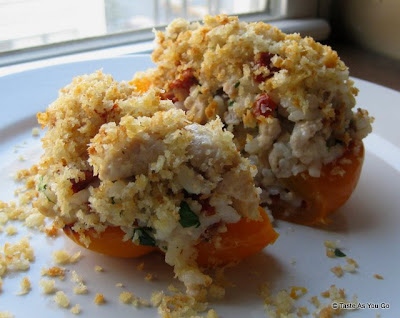 Stuffed-Bell-Peppers-Ground-Turkey-Sun-Dried-Tomatoes-tasteasyougo.com