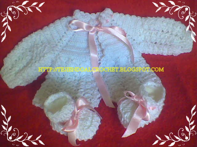 tejido crochet ganchillo camperita bebe. Black Bedroom Furniture Sets. Home Design Ideas
