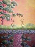 Secret Garden Original Acrylic by Impressionist Artist Kimberley T. Walton