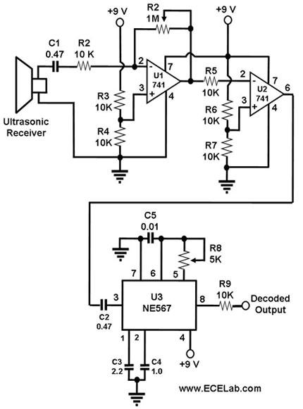 ultrasonic receiver circuit