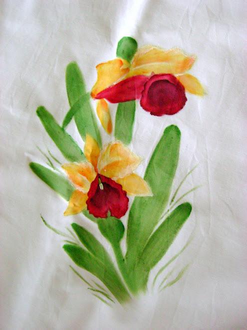 Toalha Orquídeas- Pormenor