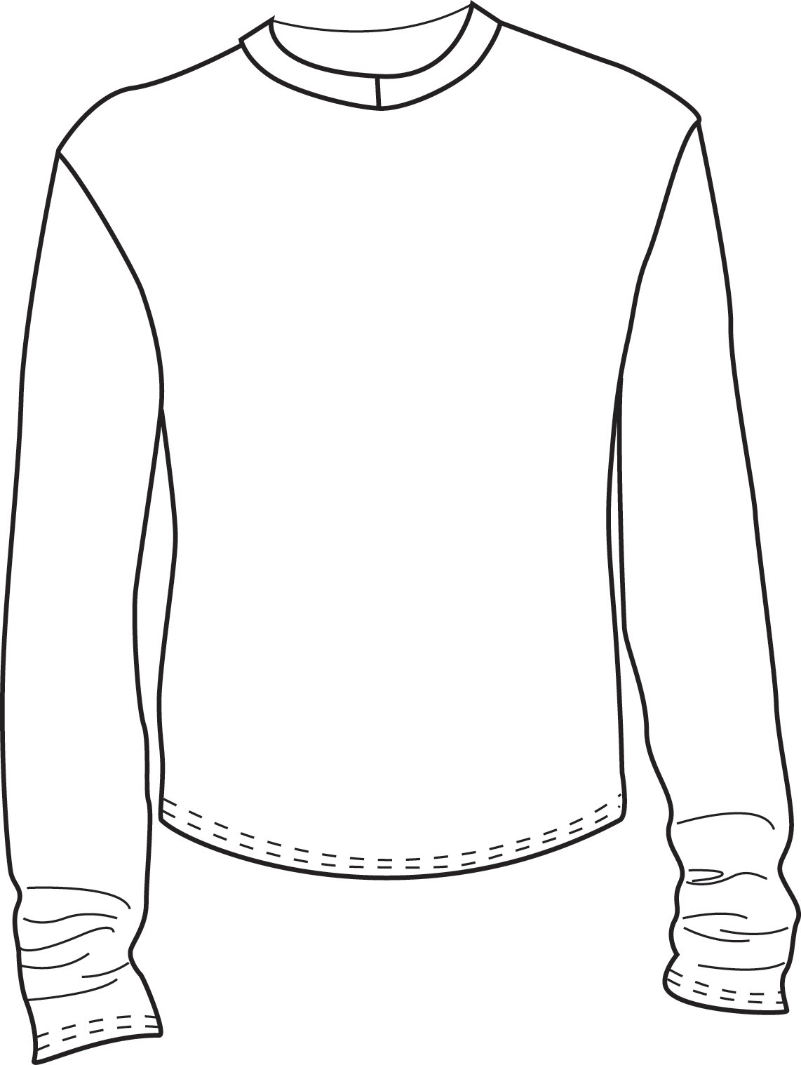 T Shirt Flat Coloring Pages