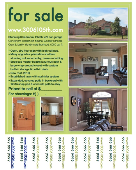 For sale by owner poster template