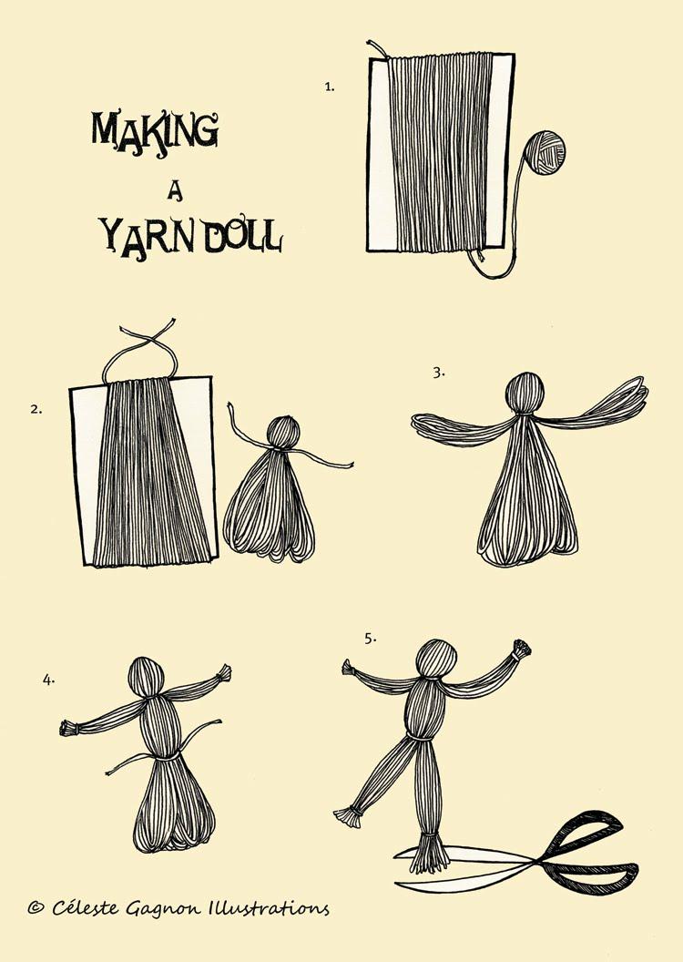 Yarn doll instructions.