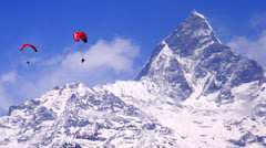 Paragliding near famous Himal
