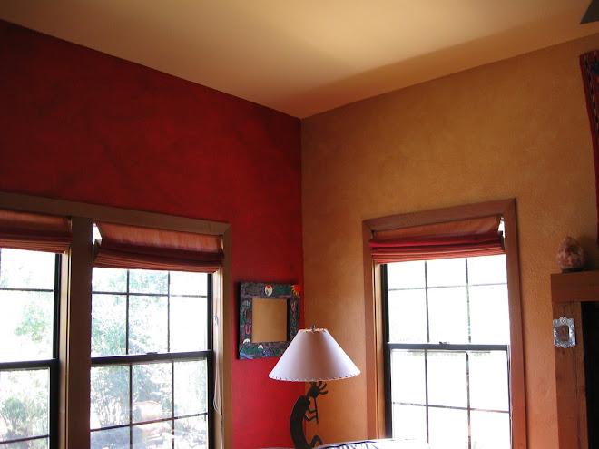Two wall glazes meet