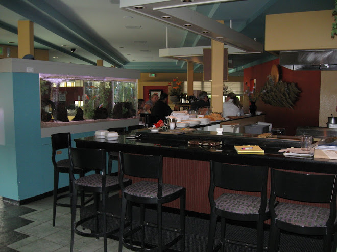 Back end of Sushi bar
