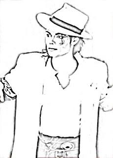 Une p 39 tite balade miribel coloriages michael jackson - Coloriage michael jackson ...