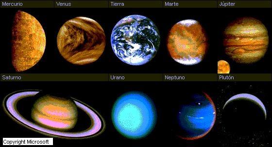 Cmc Las Características De Los Planetas Por Héctor Latasa De 1º A Bachiller