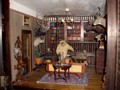 Dollhouse Minis Victorian Library By Eboli Degroot